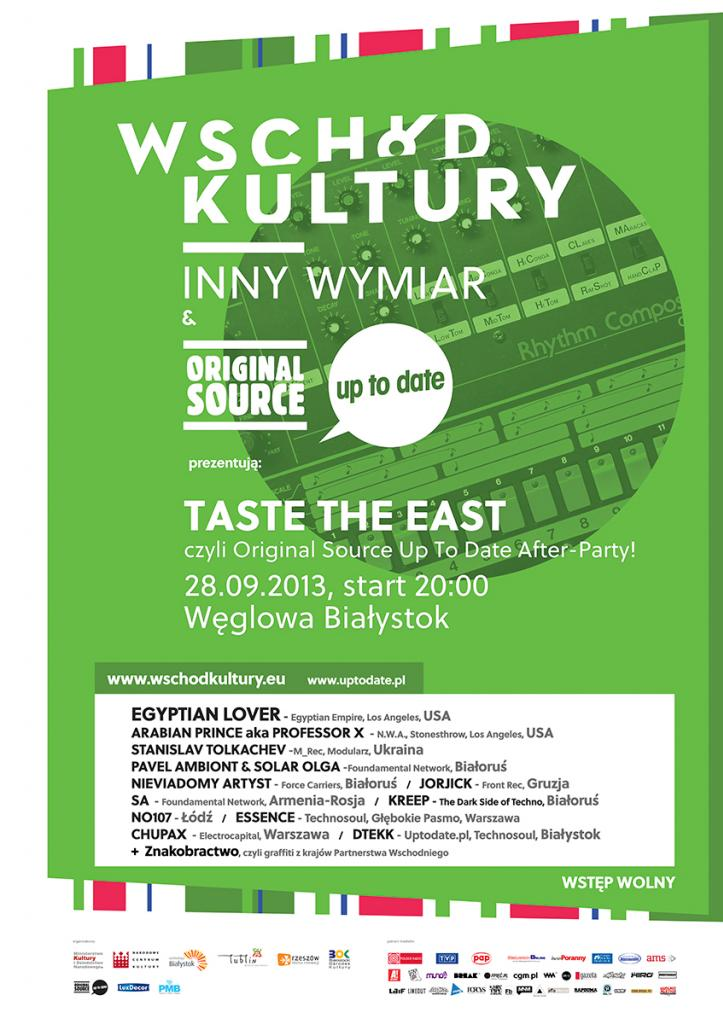 Taste The East: Original Source Up To Date Festival after-party @ Białystok, PL (28.09.2013)